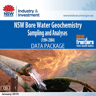 nsw bore water geochemistry sampling and analyses (1994