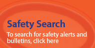 Safety alert database search