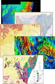 A collection of geological maps