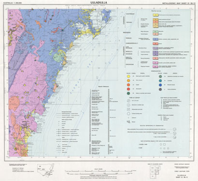 Ulladulla 1:250 000 Metallogenic Map